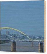 The Newport Southbank Bridge Wood Print