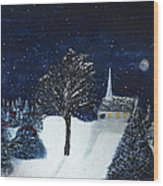 The Night Before Christmas Wood Print