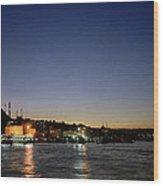 Istanbul Nights Wood Print