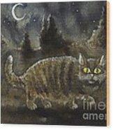 The Night Stalker Wood Print