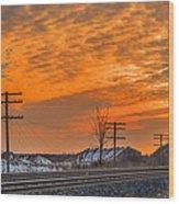 The Night Train Wood Print