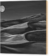 The Night Walked Down The Sky ... Wood Print