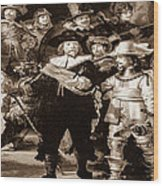 The Night Watch By Rembrandt Wood Print
