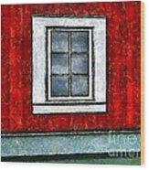 The Night Window Wood Print