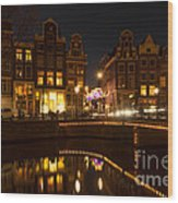 The Nine Streets Amsterdam Wood Print