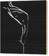 The Nipple Wood Print