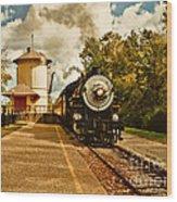 The Noon Train Wood Print