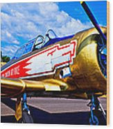 The North American T-6 Texan Airplane Wood Print by David Patterson