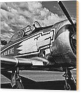 The North American T-6 Texan Wood Print