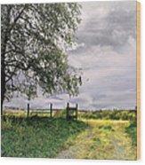 The North Pasture Wood Print