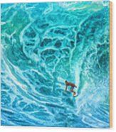 The North Shore Optimist Wood Print