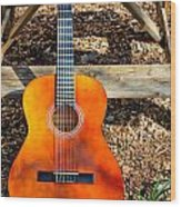 The Not So Old Guitar Wood Print