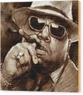The Notorious B.i.g. Wood Print