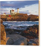 The Nubble Lighthouse Wood Print