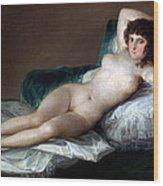 The Nude Maja Wood Print