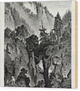 The Nunnery Of Ottilienberg, Alsace. Mont Sainte-odil Wood Print