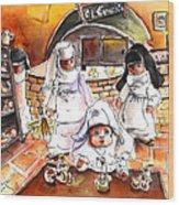 The Nuns Of Toledo 02 Wood Print