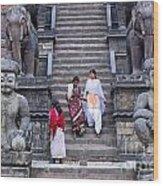 The Nyatapola Temple At Bhaktapur In Nepal Wood Print