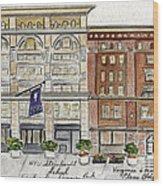 The Nyu Steinhardt Pless Building Wood Print