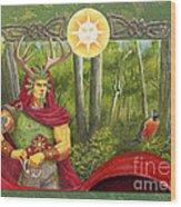 The Oak King Wood Print