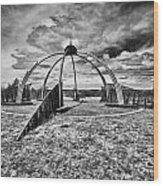 The Observatory Monochrome Wood Print