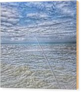The Ocean And The Pole Wood Print