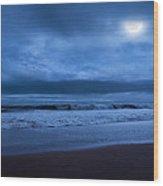 The Ocean Moon Wood Print