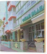 The Ocean Plaza Hotel Wood Print