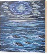 The Ocean Sings The Sky Listens 2 Wood Print by Cheryl Pettigrew
