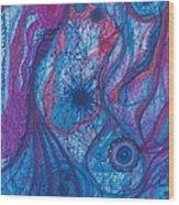 The Ocean's Blue Heart Wood Print