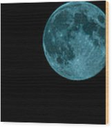 The Official Blue Moon Of 2013-august 20-21 Wood Print