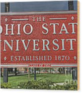 The Ohio State University Wood Print