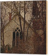 The Old Abandoned Church Wood Print