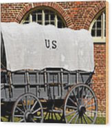The Old Army Wagon Wood Print