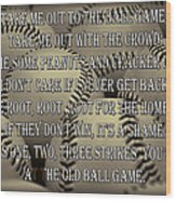 The Old Ballgame Wood Print
