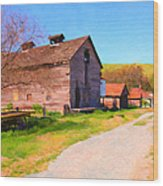 The Old Barn 5d22271 Wood Print by Wingsdomain Art and Photography