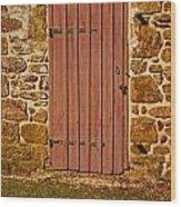The Old Barn Door Wood Print