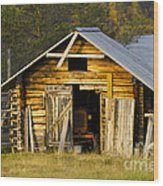 The Old Barn Wood Print by Heiko Koehrer-Wagner