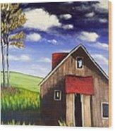 The Old Barn House Wood Print