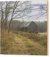 The Old Barn Wood Print