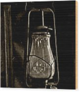 The Old Barn Lantern Wood Print