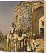 The Old Blue Tiled Mosque - India Wood Print