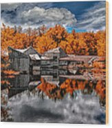The Old Boat House Wood Print by Bob Orsillo