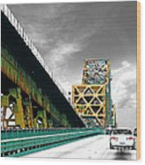 The Old Bridge Hwy 190 Mississippi River Bridge Baton Rouge Wood Print