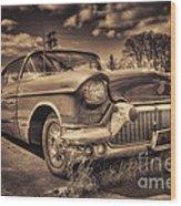 The Old Cadillac  Wood Print