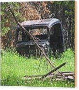 The Old Car Wood Print