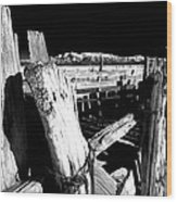 The Old Corral Wood Print