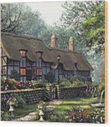 The Old Cottage Wood Print