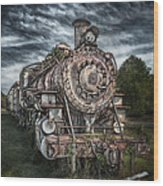 The Old Depot Train Wood Print by Brenda Bryant