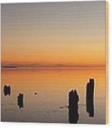 The Old Dock At Sunset Wood Print